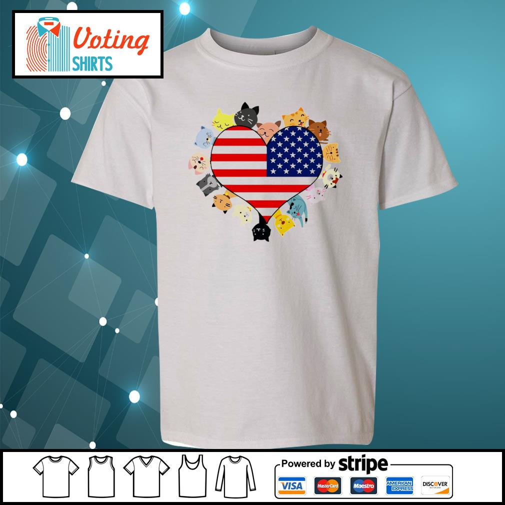 Cat love black live matter american flag s youth-tee