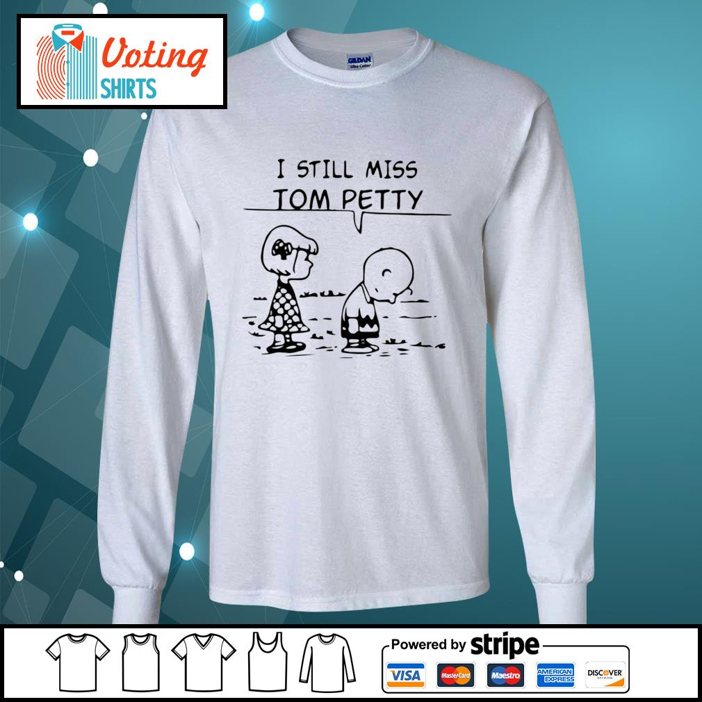Charlie Brown and Lucy I still miss Tom Petty s longsleeve-tee