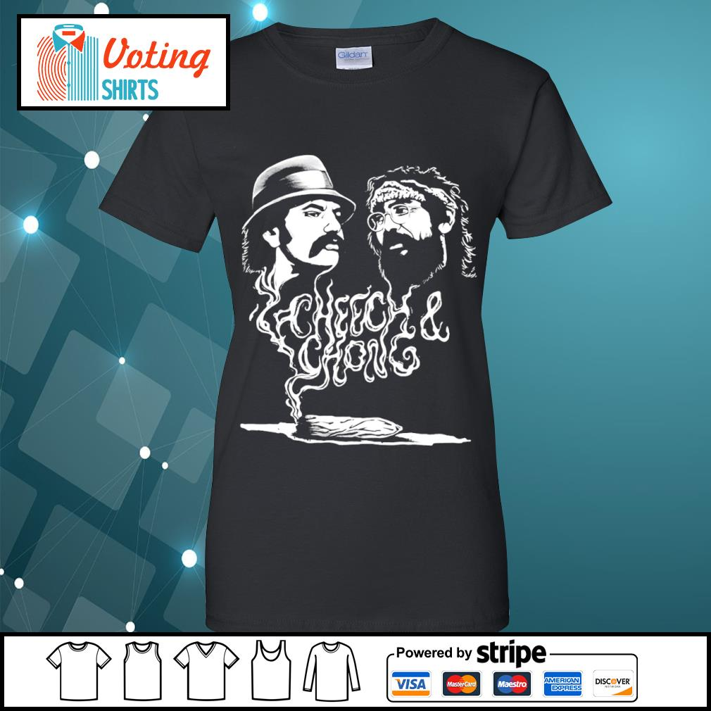 Cheech and Chong up in smoke Marijuana stoner s ladies-tee