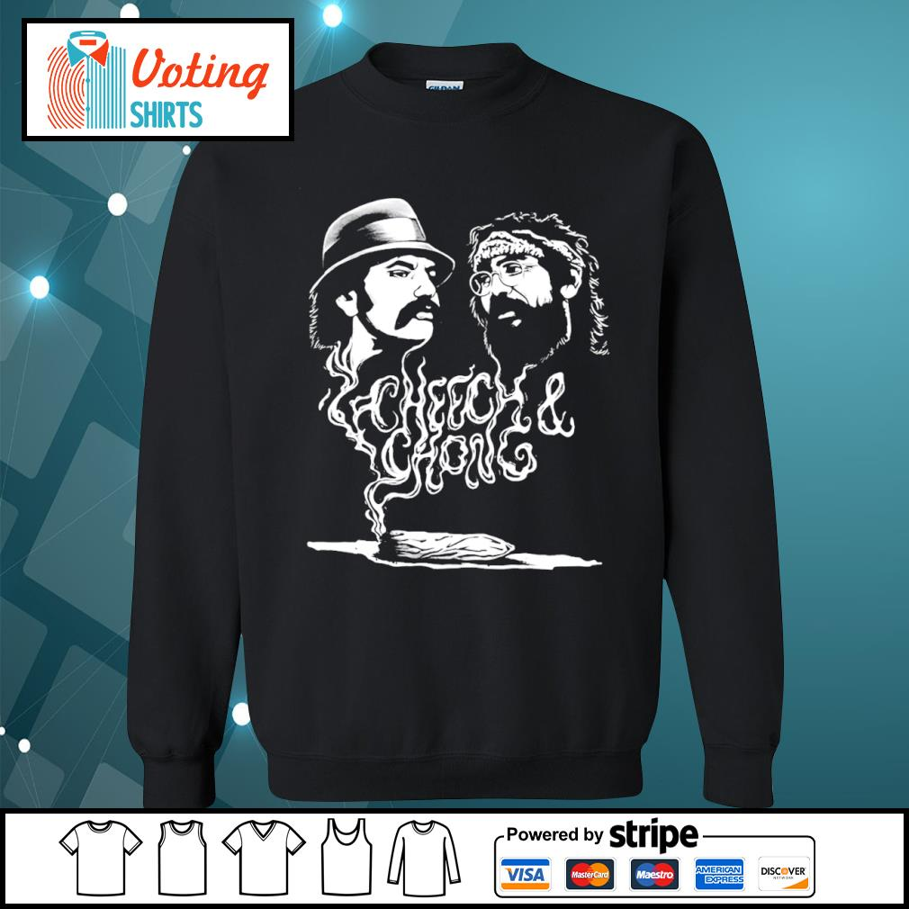 Cheech and Chong up in smoke Marijuana stoner s sweater