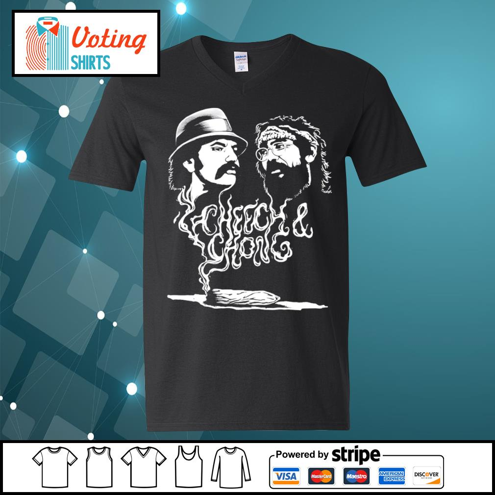 Cheech and Chong up in smoke Marijuana stoner s v-neck-t-shirt