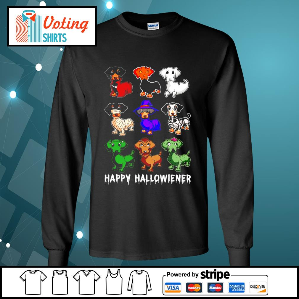 Dachshund Happy Hallowiener Halloween s longsleeve-tee