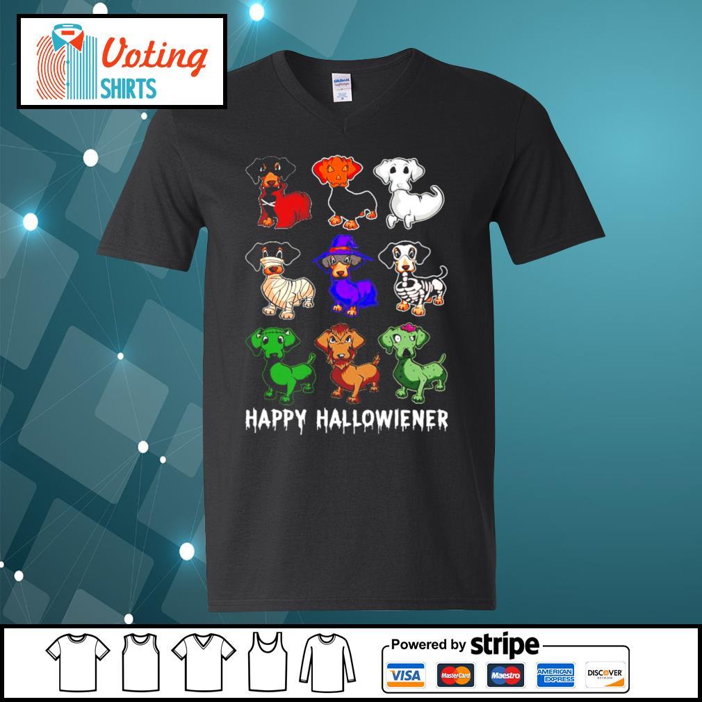 Dachshund Happy Hallowiener Halloween s v-neck-t-shirt