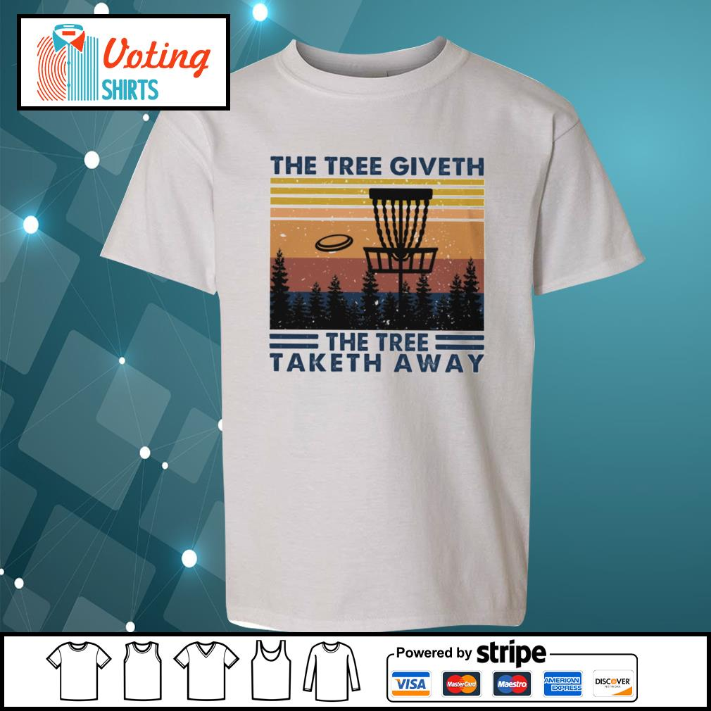 Disc golf hit the tree giveth the tree taketh away vintage s youth-tee
