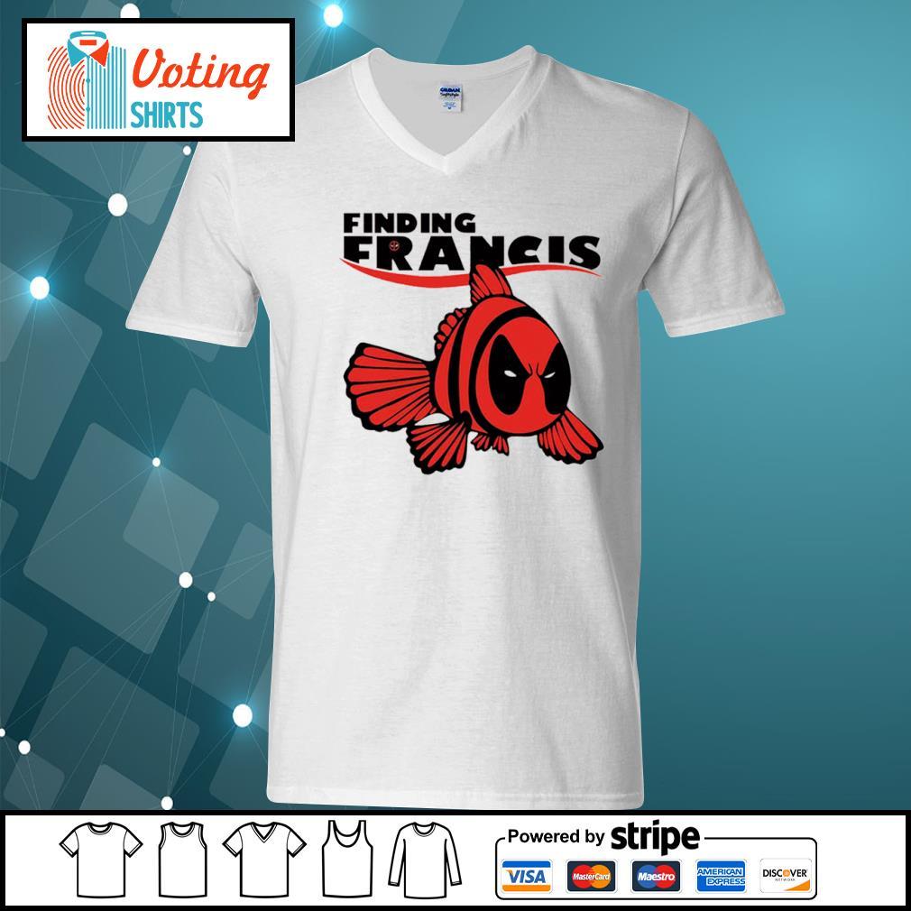 Disney Nemo Deadpool finding Francis s v-neck-t-shirt