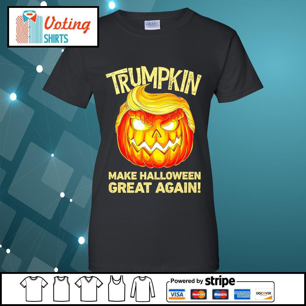 Donald Trump Trumpkin make Halloween great again s ladies-tee