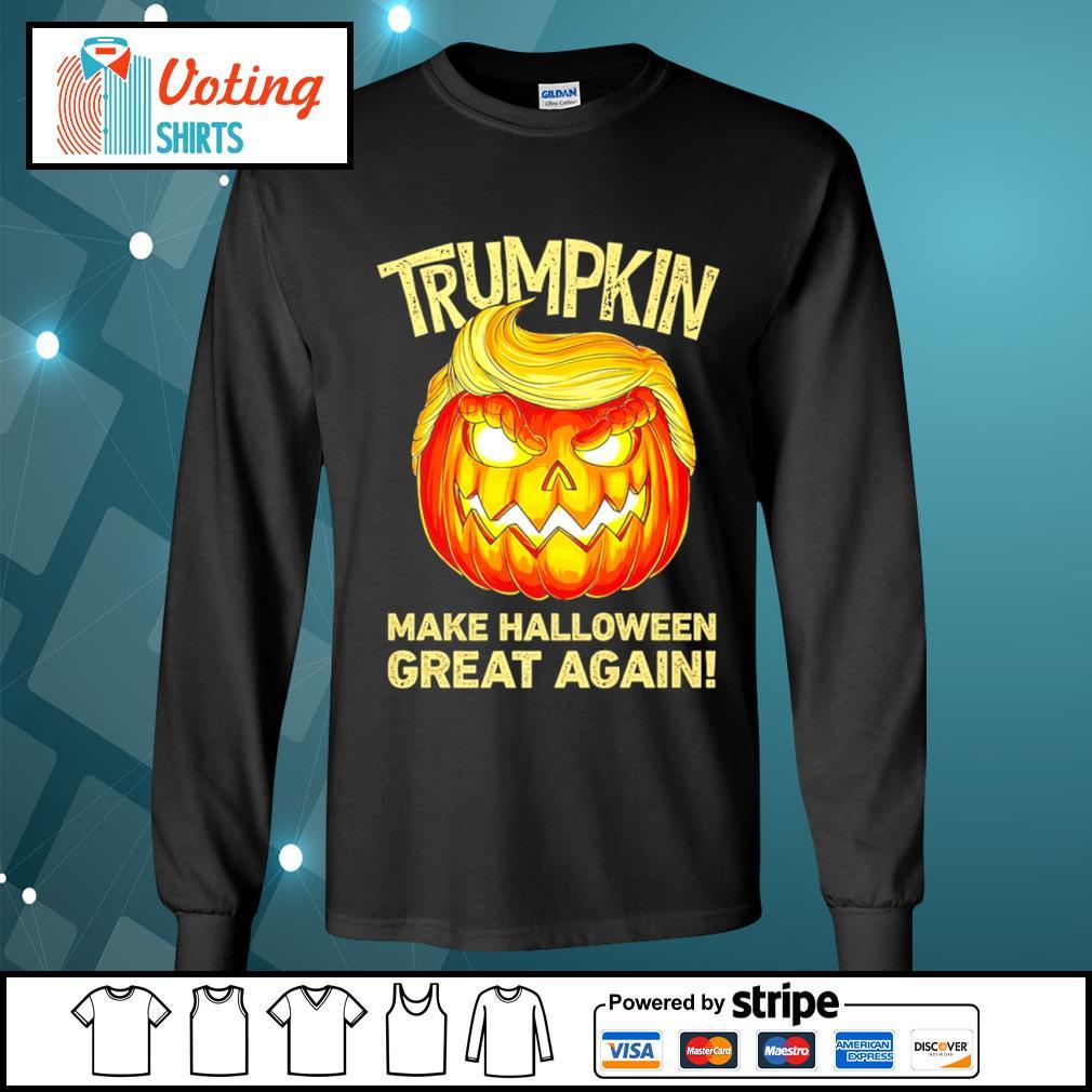 Donald Trump Trumpkin make Halloween great again s longsleeve-tee