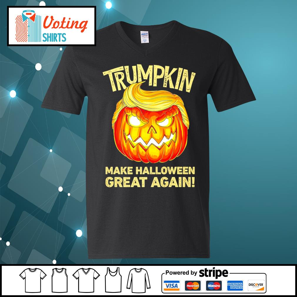 Donald Trump Trumpkin make Halloween great again s v-neck-t-shirt