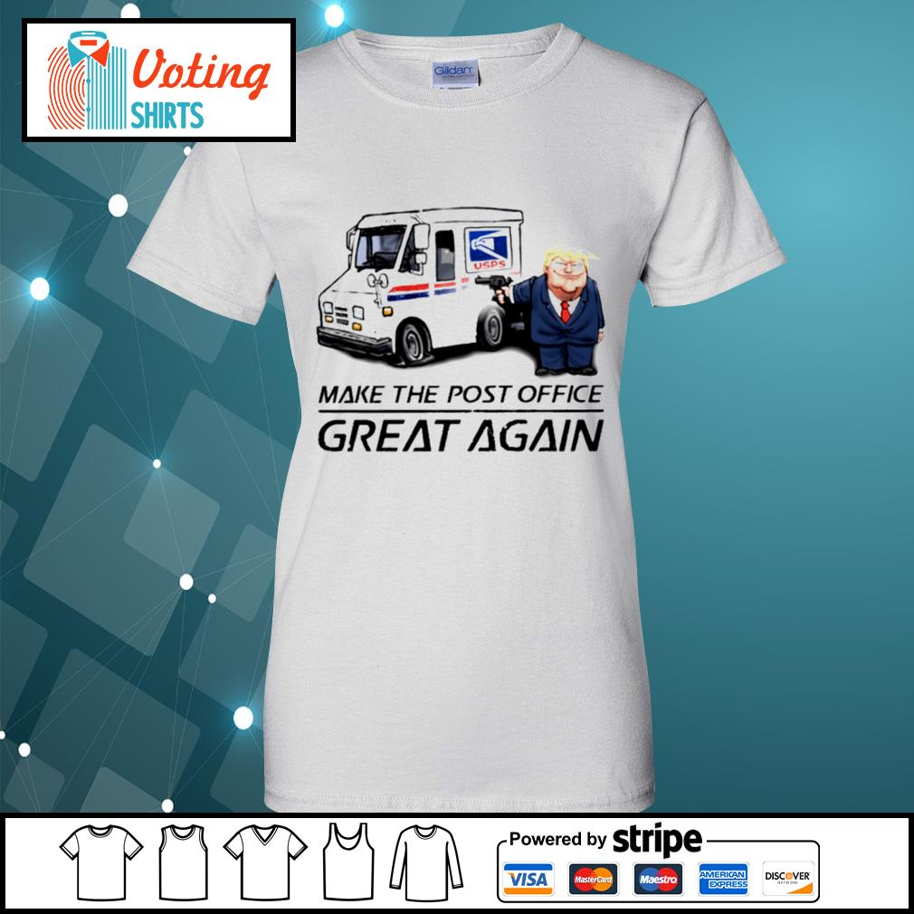 Donald Trump USPS make the post office great again s ladies-tee