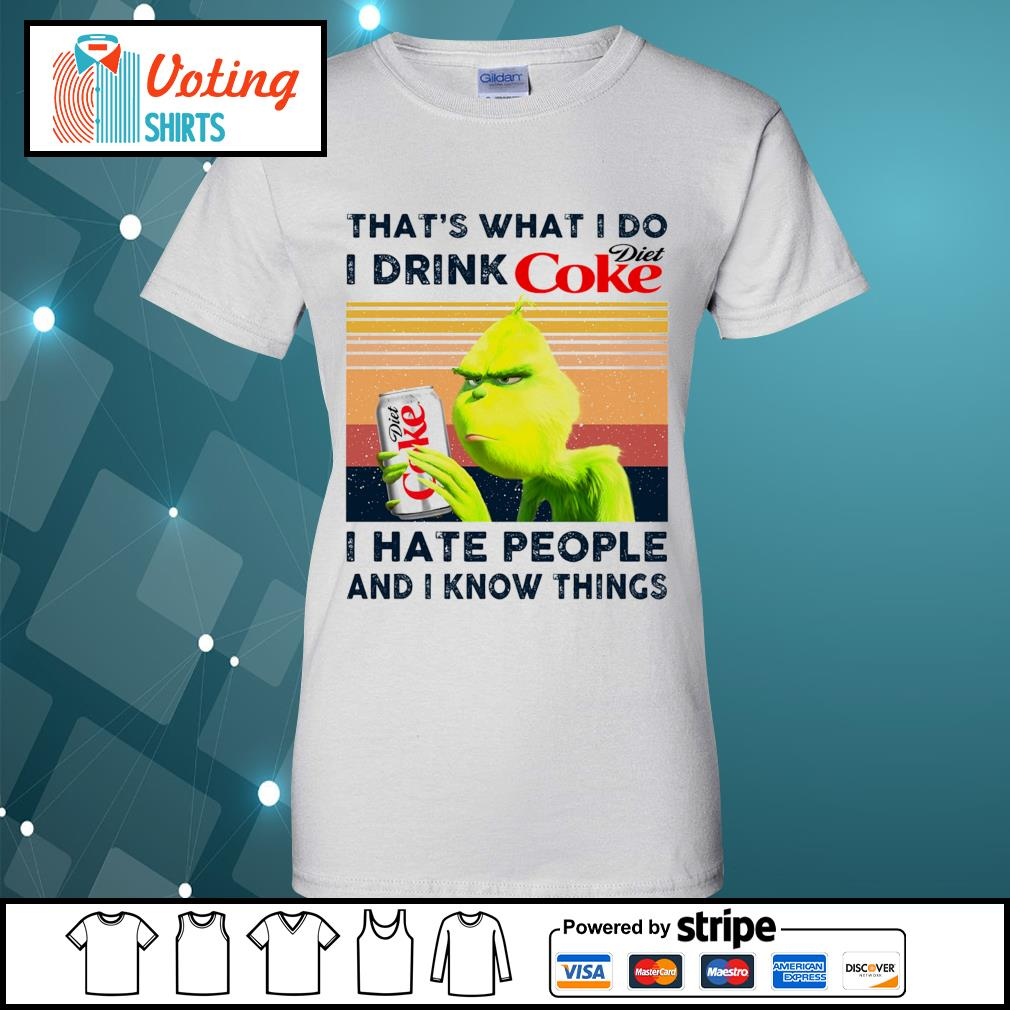 Dr Seuss that_s what I do I drink Diet Coke I hate people and I know things vintage s ladies-tee