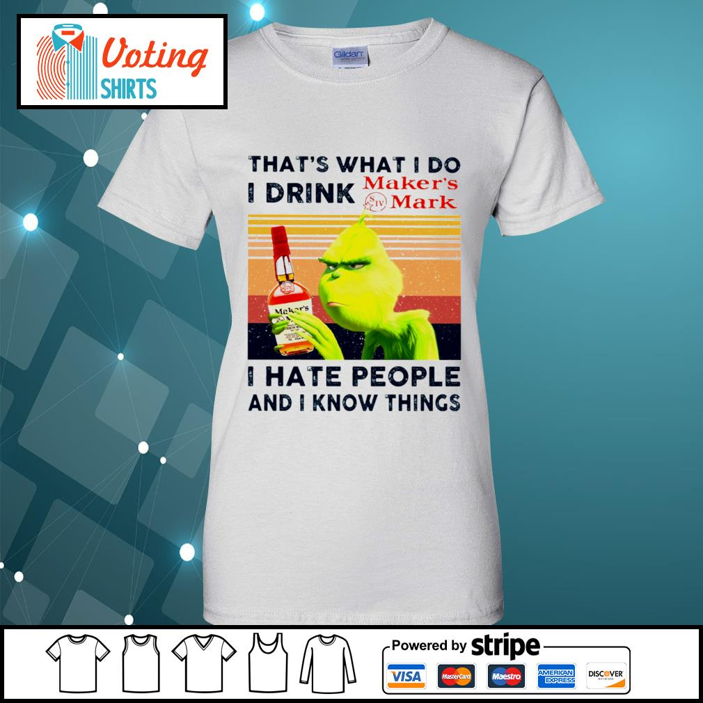 Dr Seuss that_s what I do I drink Maker_s Mark I hate people and I know things vintage s ladies-tee