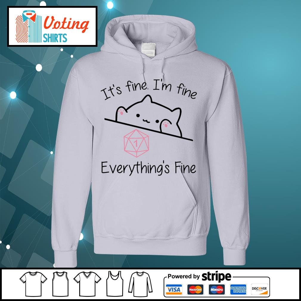 Dungeon Meowster it_s fine I_m fine everything_s fine s hoodie