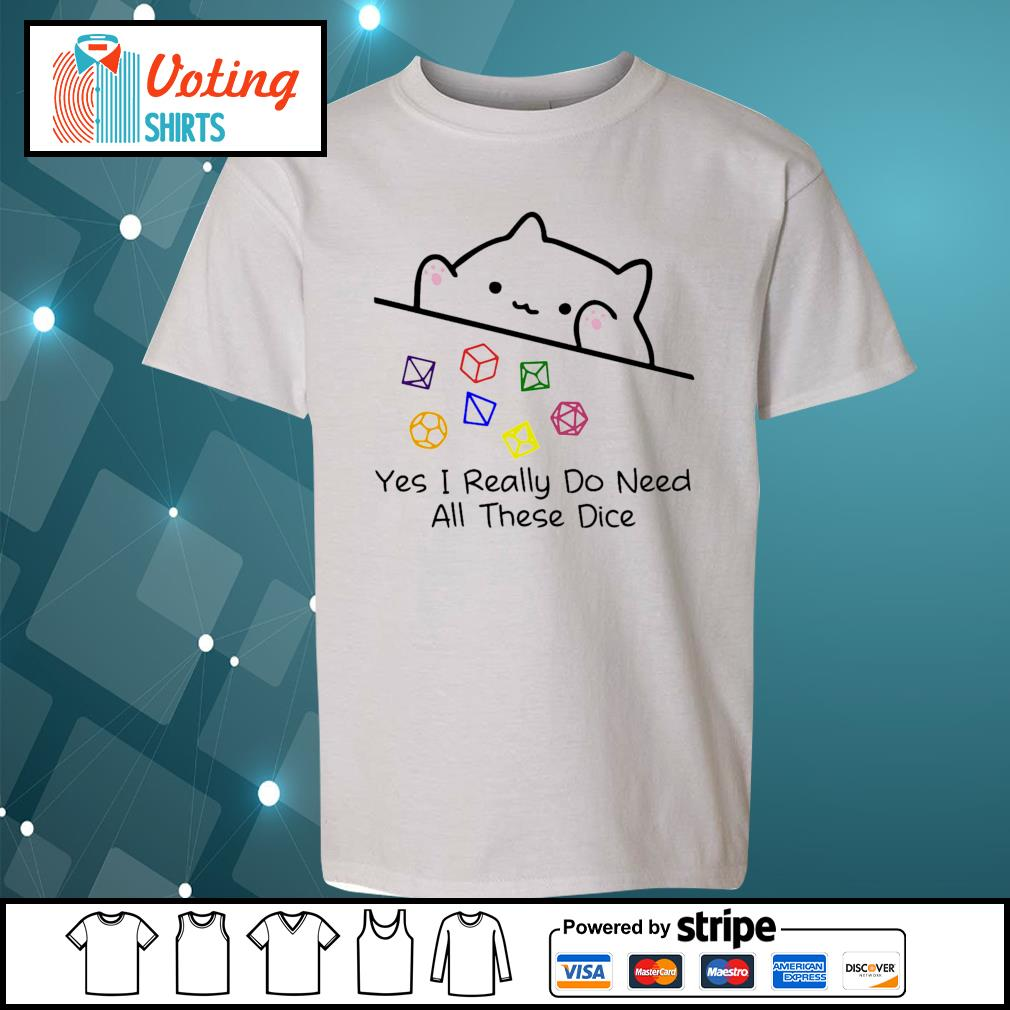 Dungeon Meowster yes I really do need all these dice s youth-tee