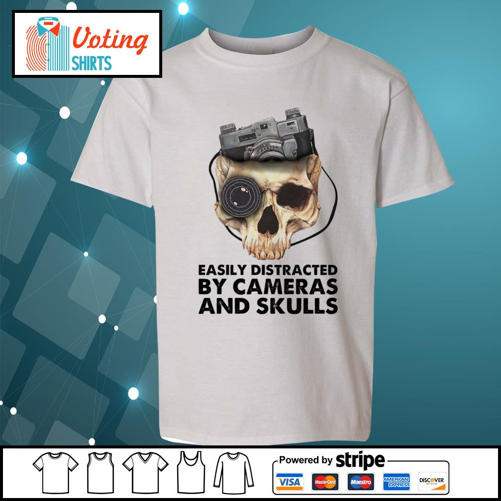 Easily distracted by cameras and skulls s youth-tee