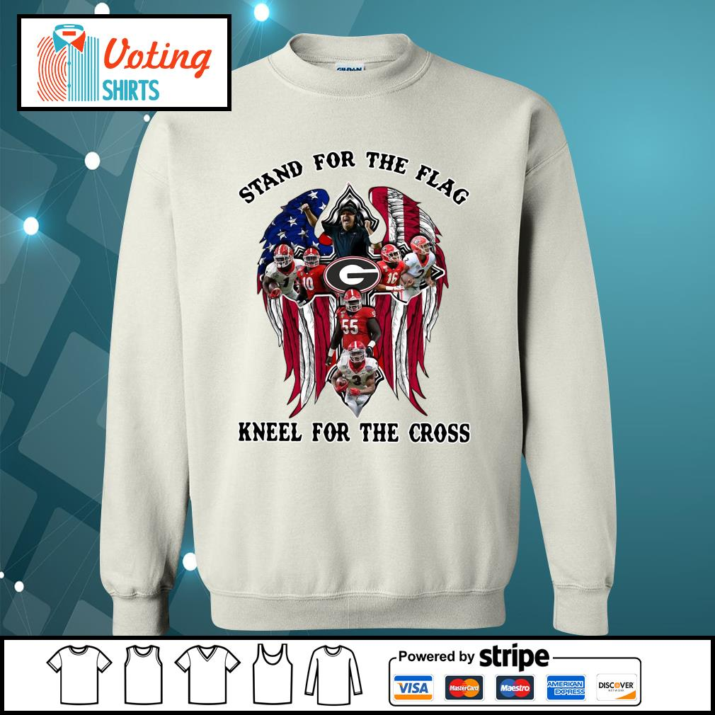 Georgia Bulldogs stand for the flag kneel for the cross s sweater