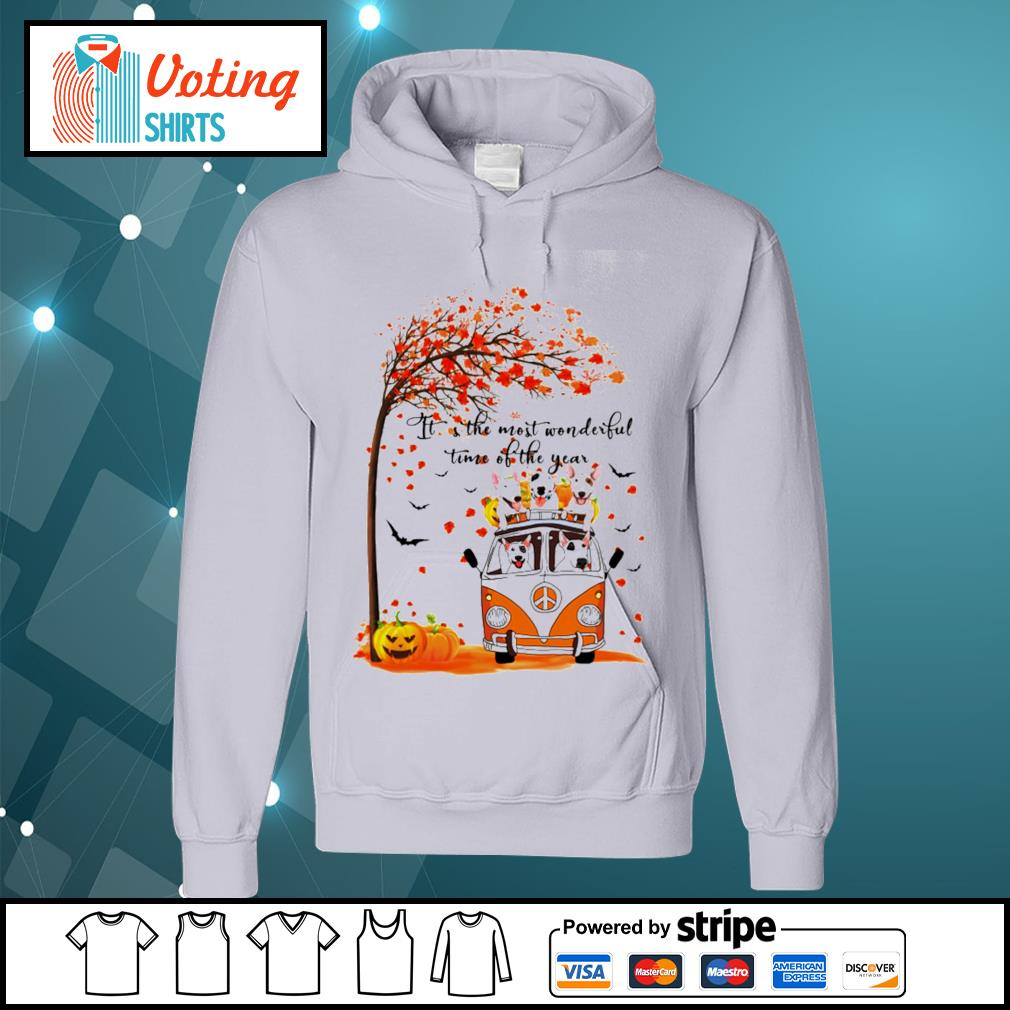 Halloween autumn Bull Terrier it's the most wonderful time of the year s hoodie