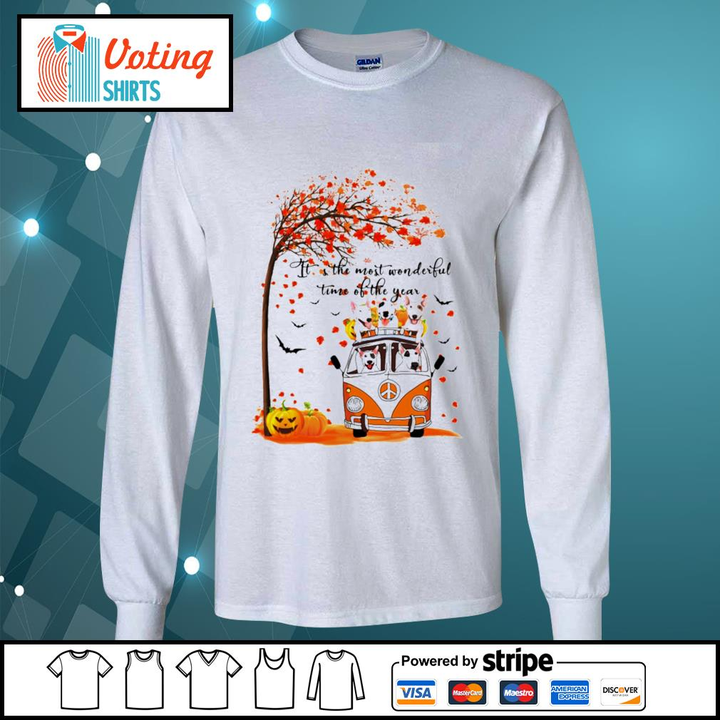 Halloween autumn Bull Terrier it's the most wonderful time of the year s longsleeve-tee