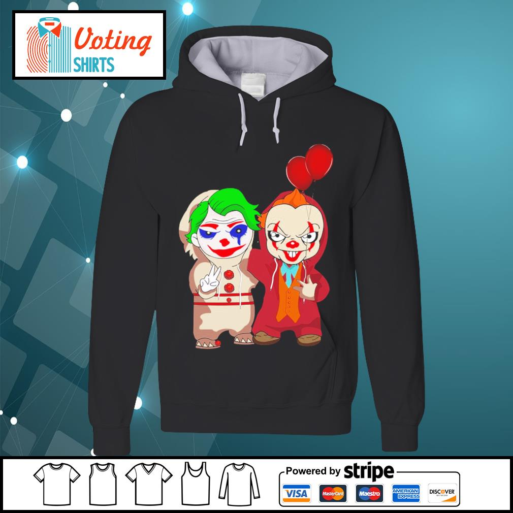Halloween baby Joker and baby Pennywise s hoodie