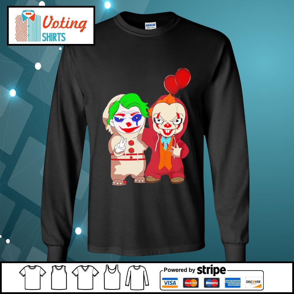 Halloween baby Joker and baby Pennywise s longsleeve-tee