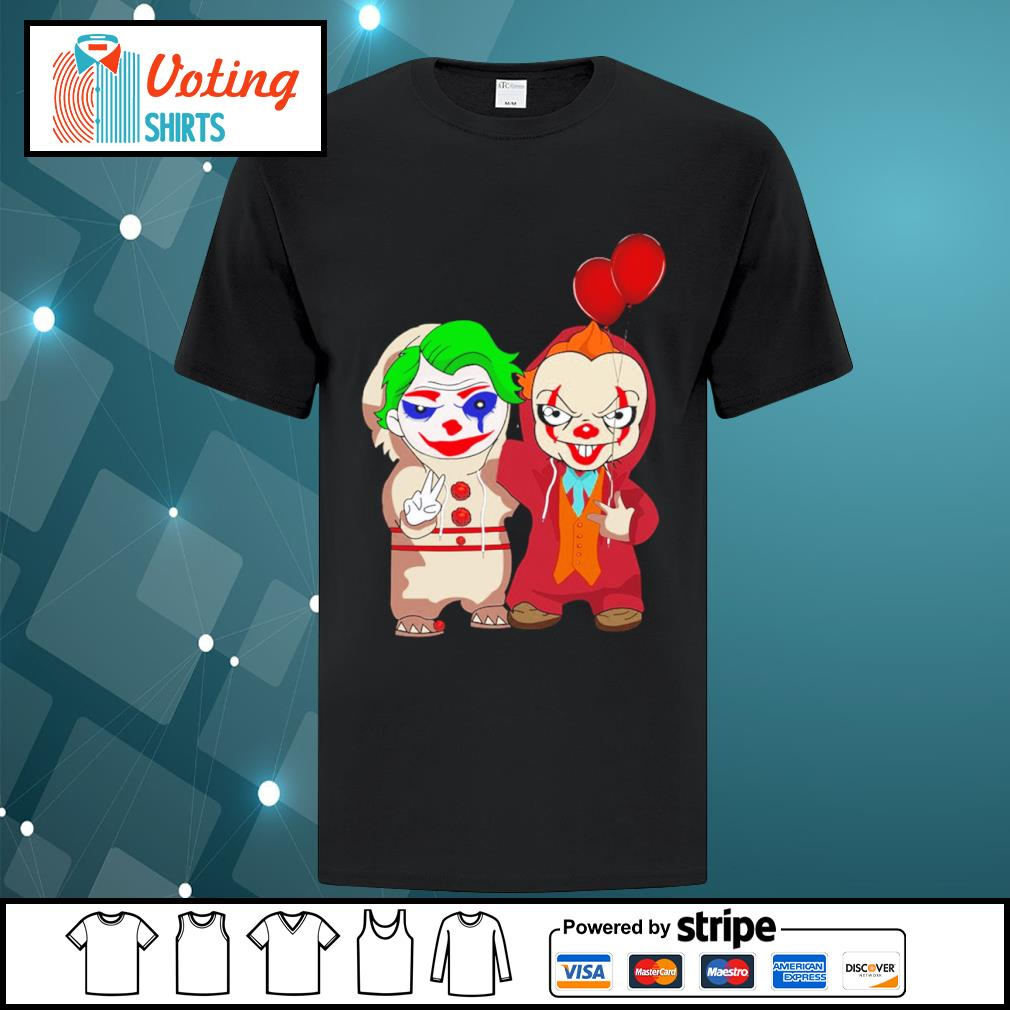 Halloween baby Joker and baby Pennywise shirt