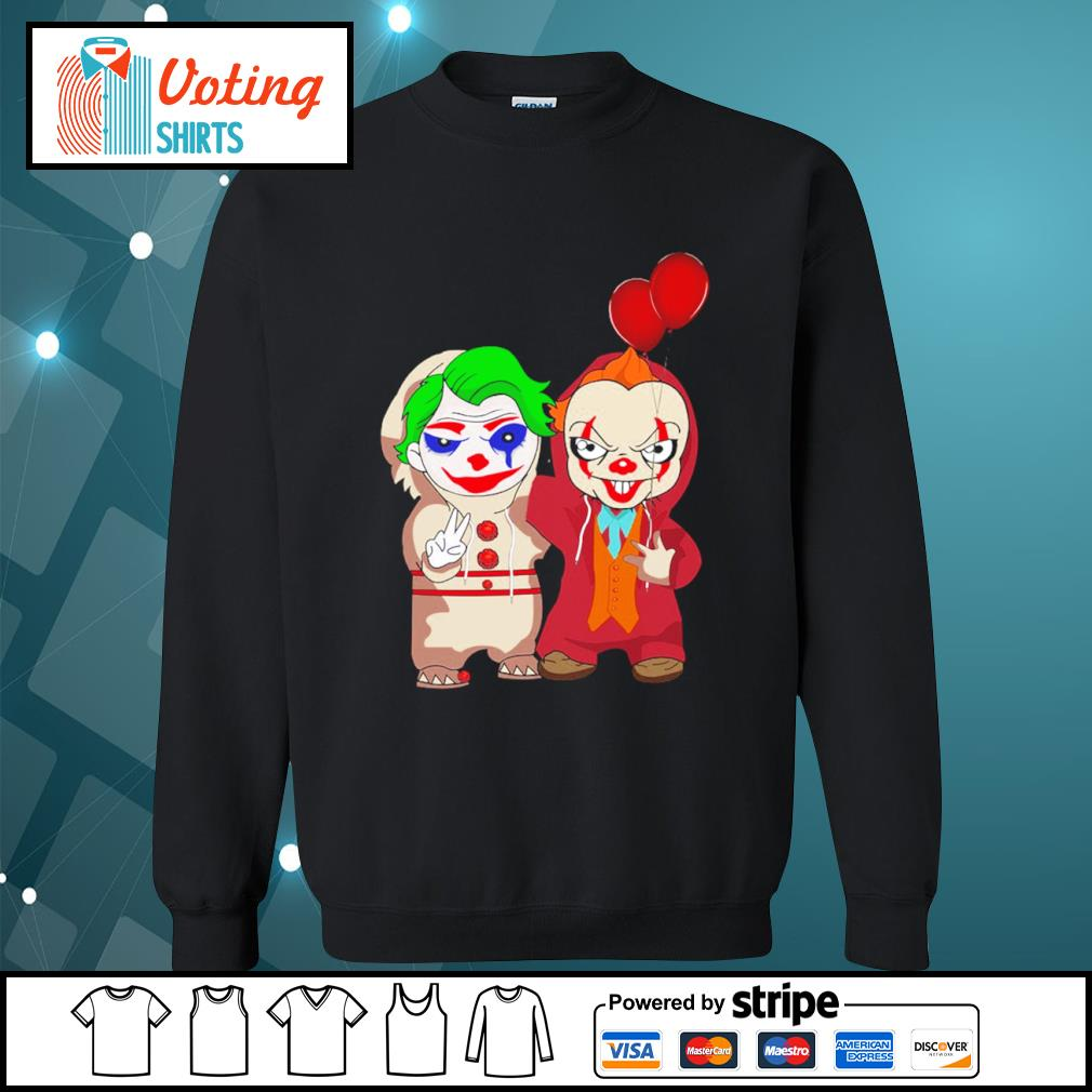 Halloween baby Joker and baby Pennywise s sweater
