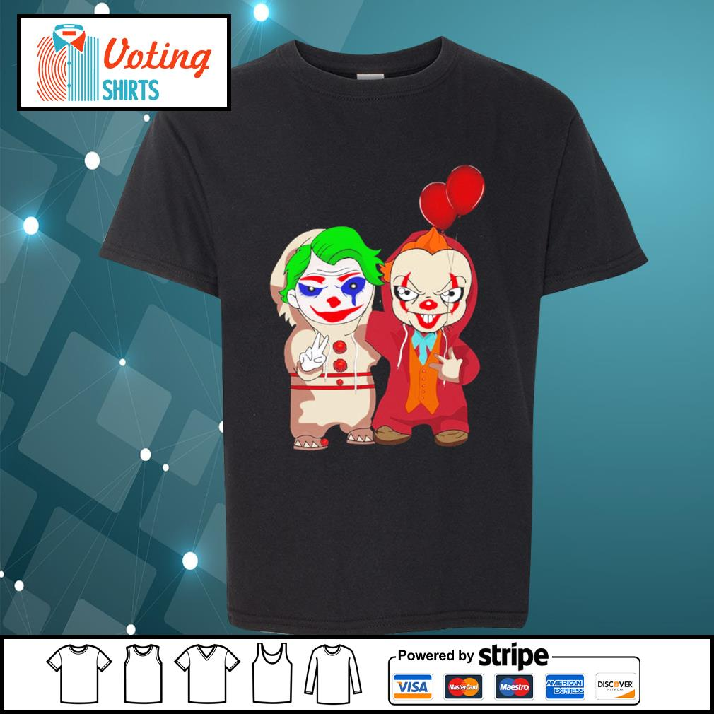 Halloween baby Joker and baby Pennywise s youth-tee