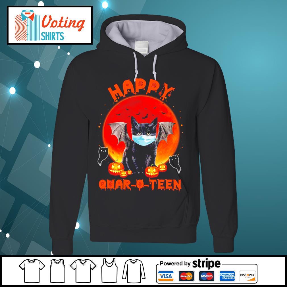Halloween cat devil face mask happy Quar O Teen s hoodie