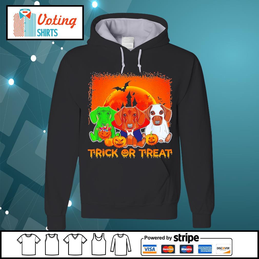 Halloween Dachshund trick or treat s hoodie