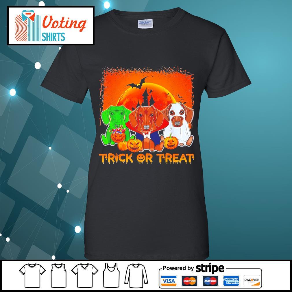 Halloween Dachshund trick or treat s ladies-tee