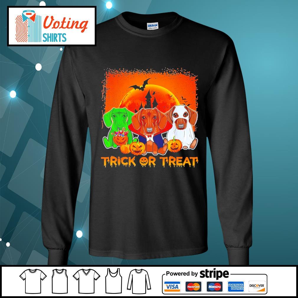 Halloween Dachshund trick or treat s longsleeve-tee