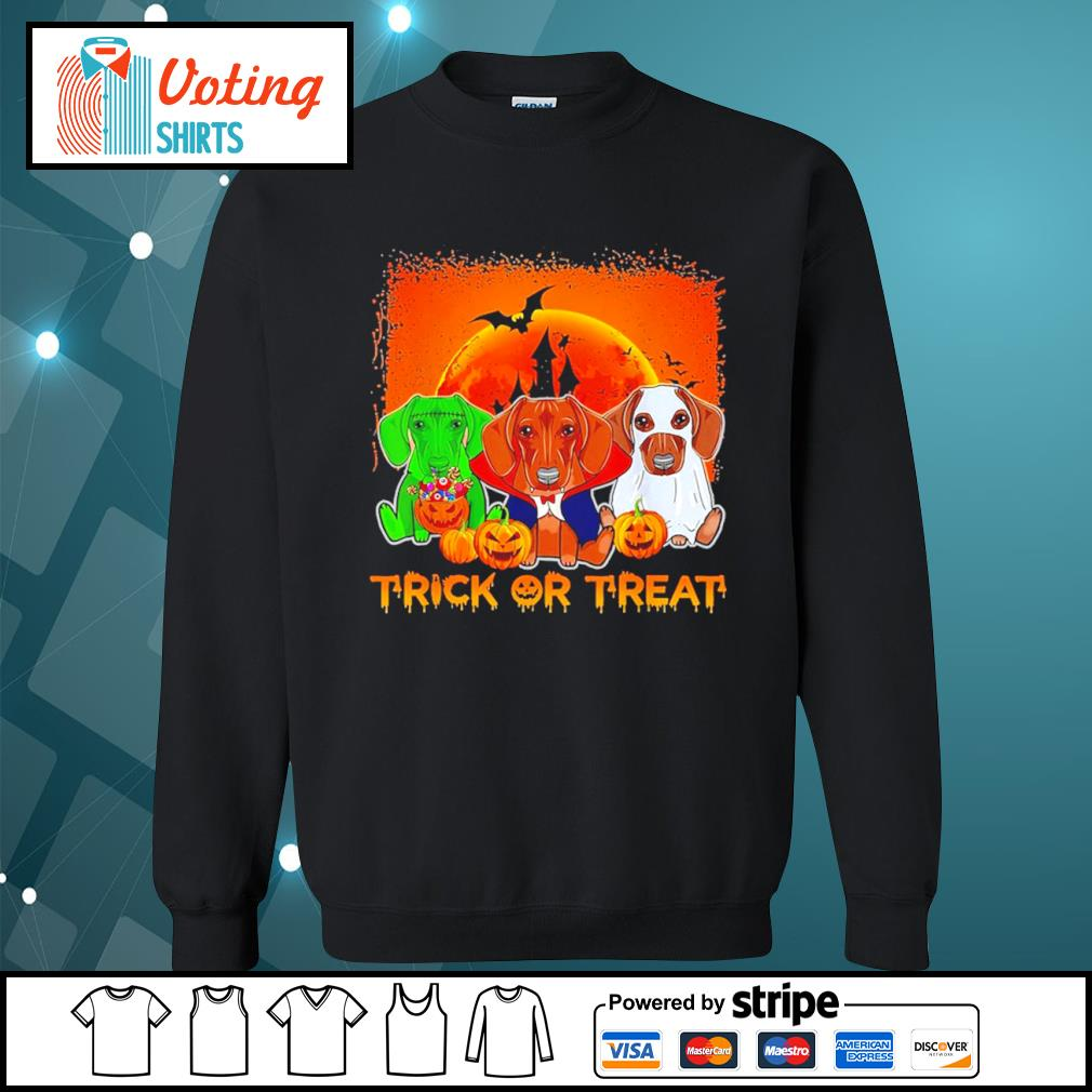 Halloween Dachshund trick or treat s sweater