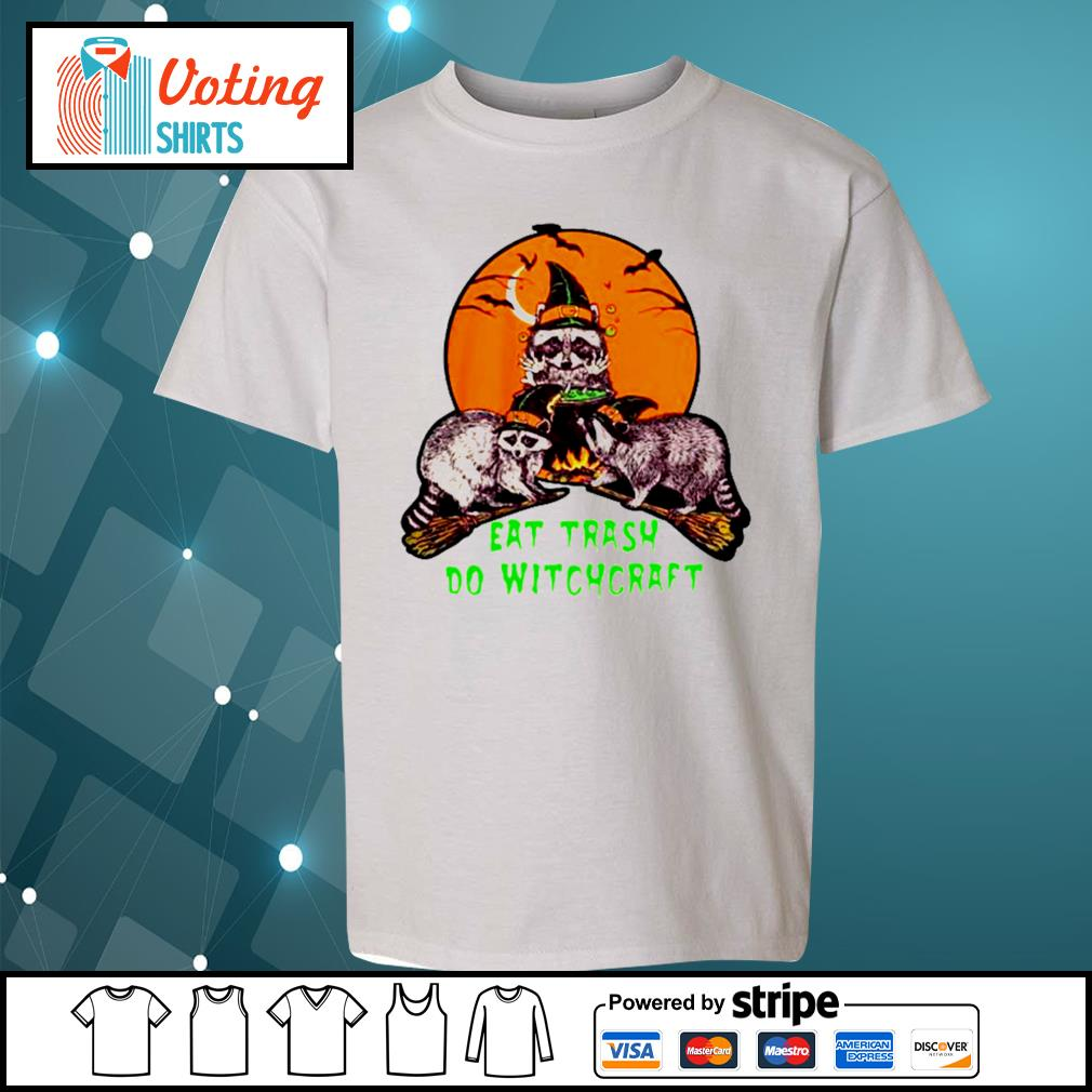 Halloween eat trash do witchcraft s youth-tee
