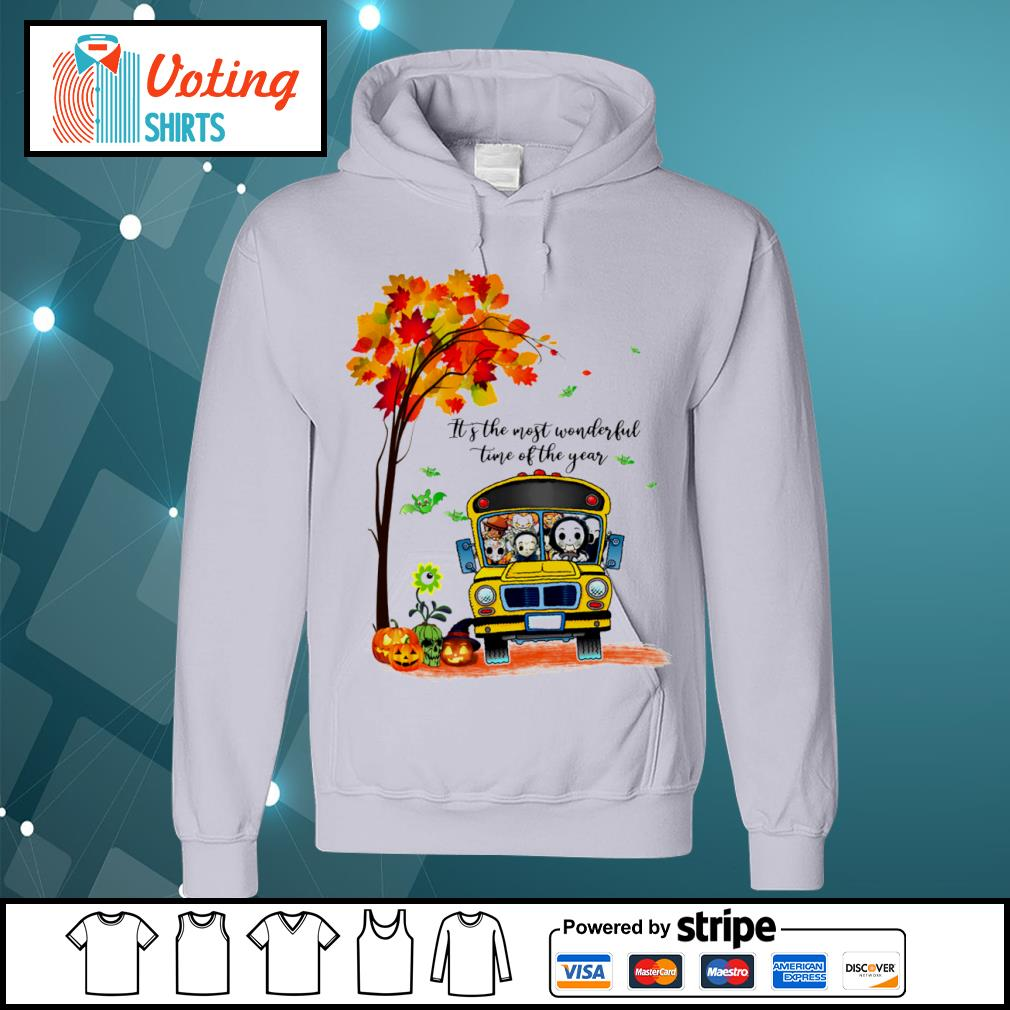 Halloween horror movies characters school bus it's the most wonderful time of the year s hoodie