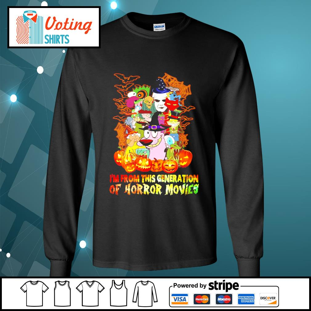 Halloween I'm from this generation of Horror movies s longsleeve-tee