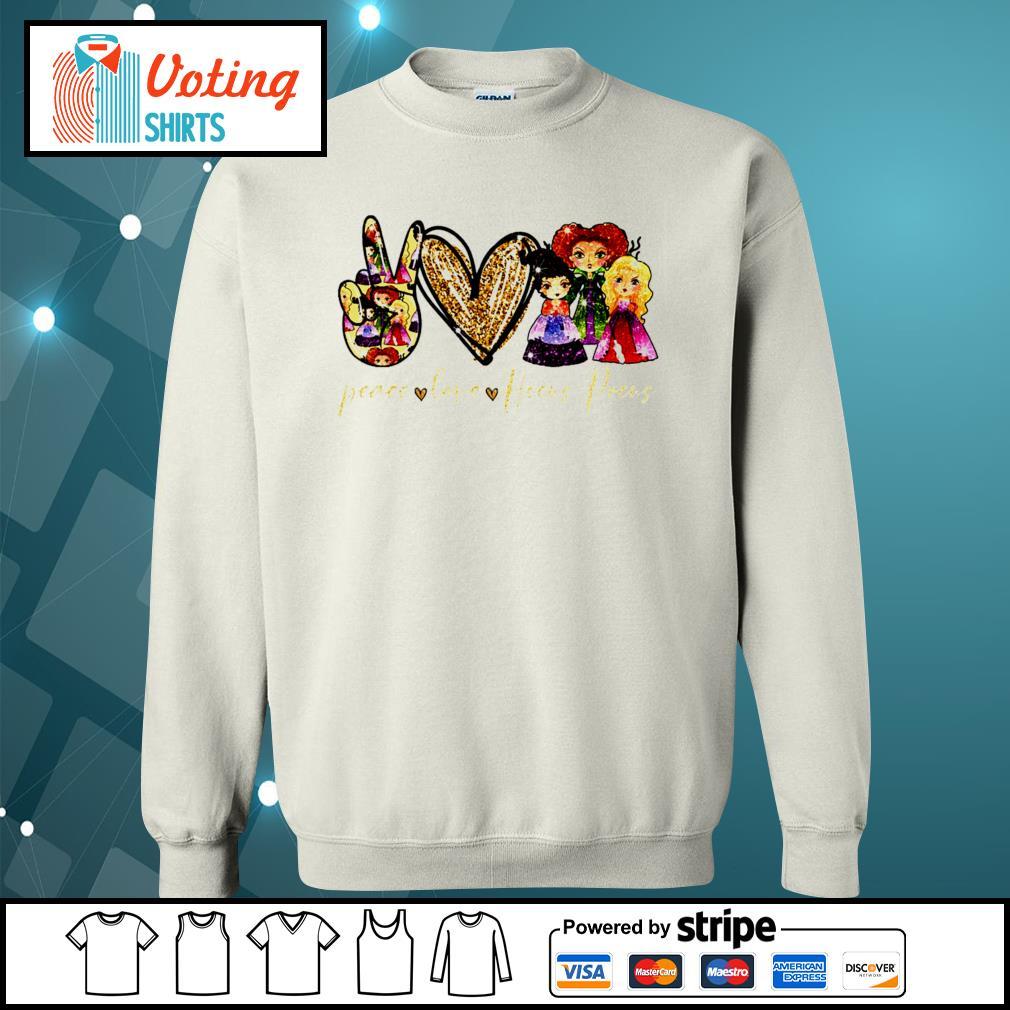 Halloween peace love Hocus Pocus s sweater