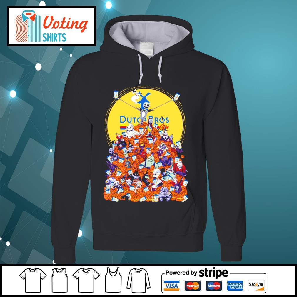Halloween Skellington Dutch Bros coffee s hoodie