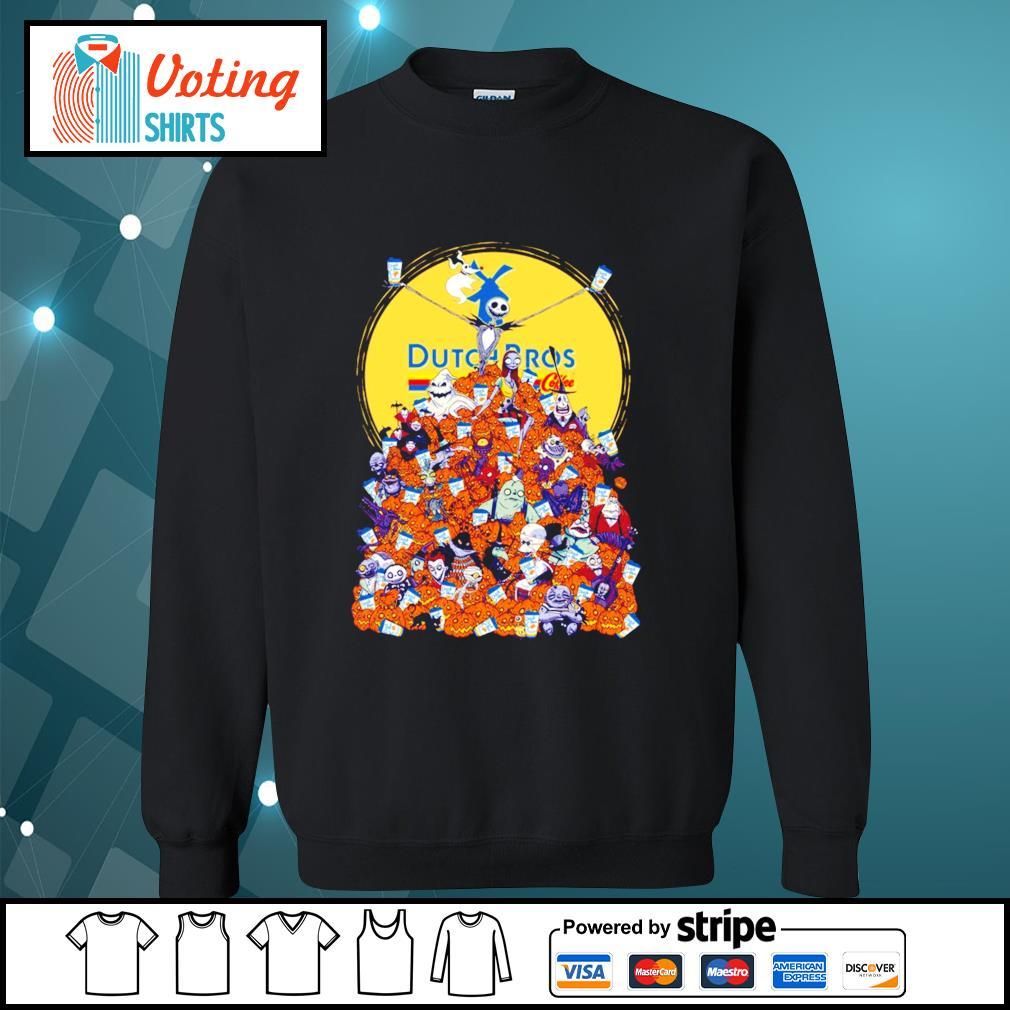 Halloween Skellington Dutch Bros coffee s sweater
