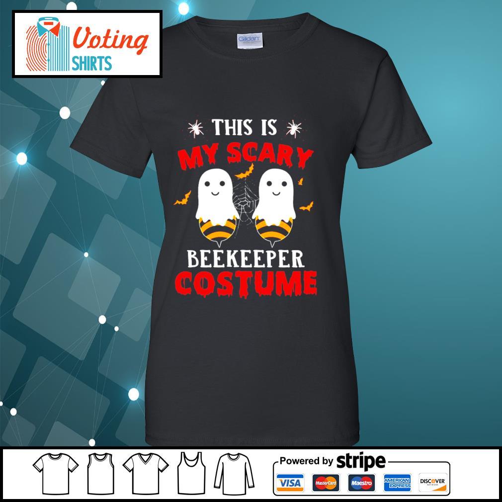 Halloween this is my scary beekeeper costume s ladies-tee