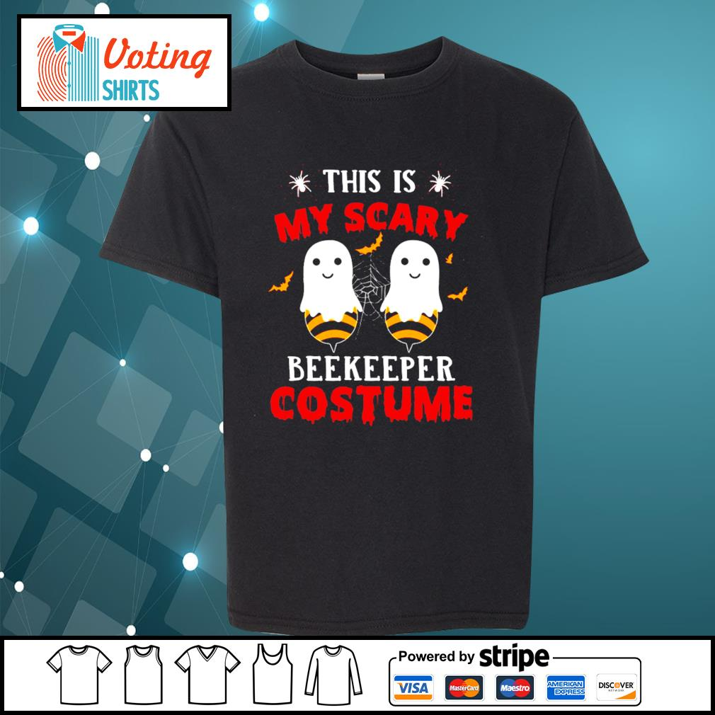 Halloween this is my scary beekeeper costume s youth-tee