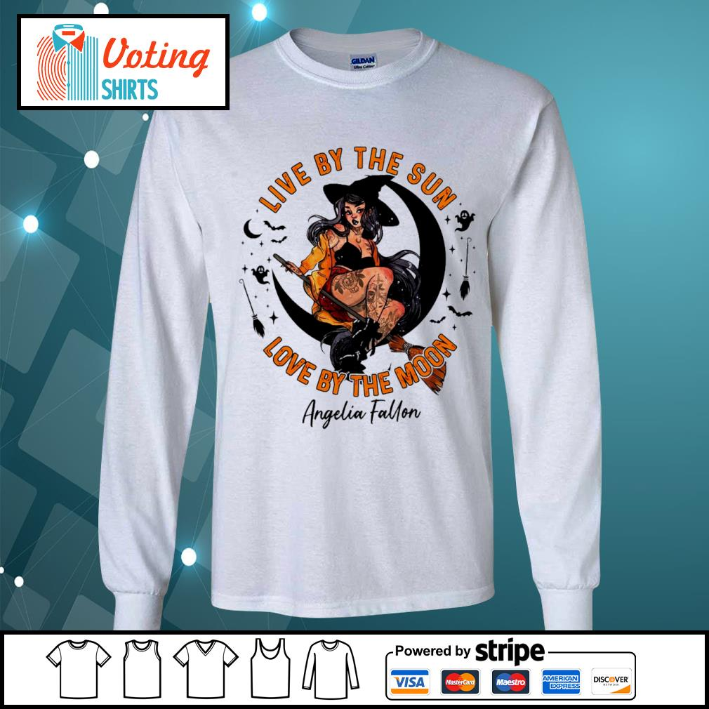 Halloween witch tattoo live by the sun love by the moon s longsleeve-tee