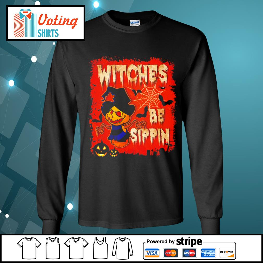 Halloween witches be sippin s longsleeve-tee