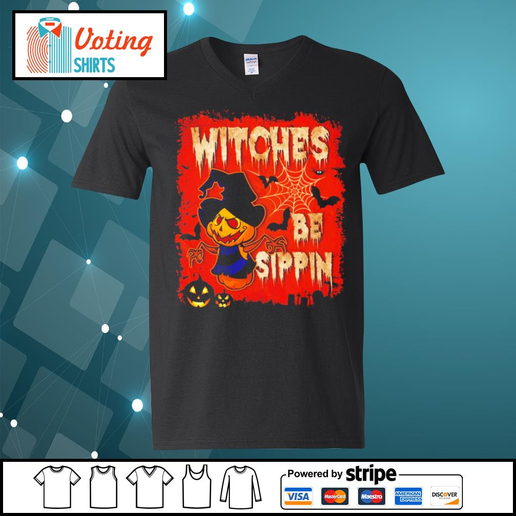 Halloween witches be sippin s v-neck-t-shirt