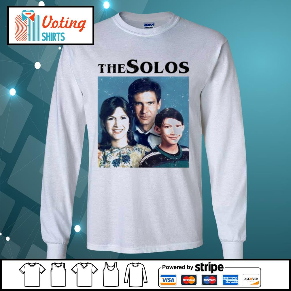 Han Solo Princess Leia Kylo Ren The Solos family s longsleeve-tee