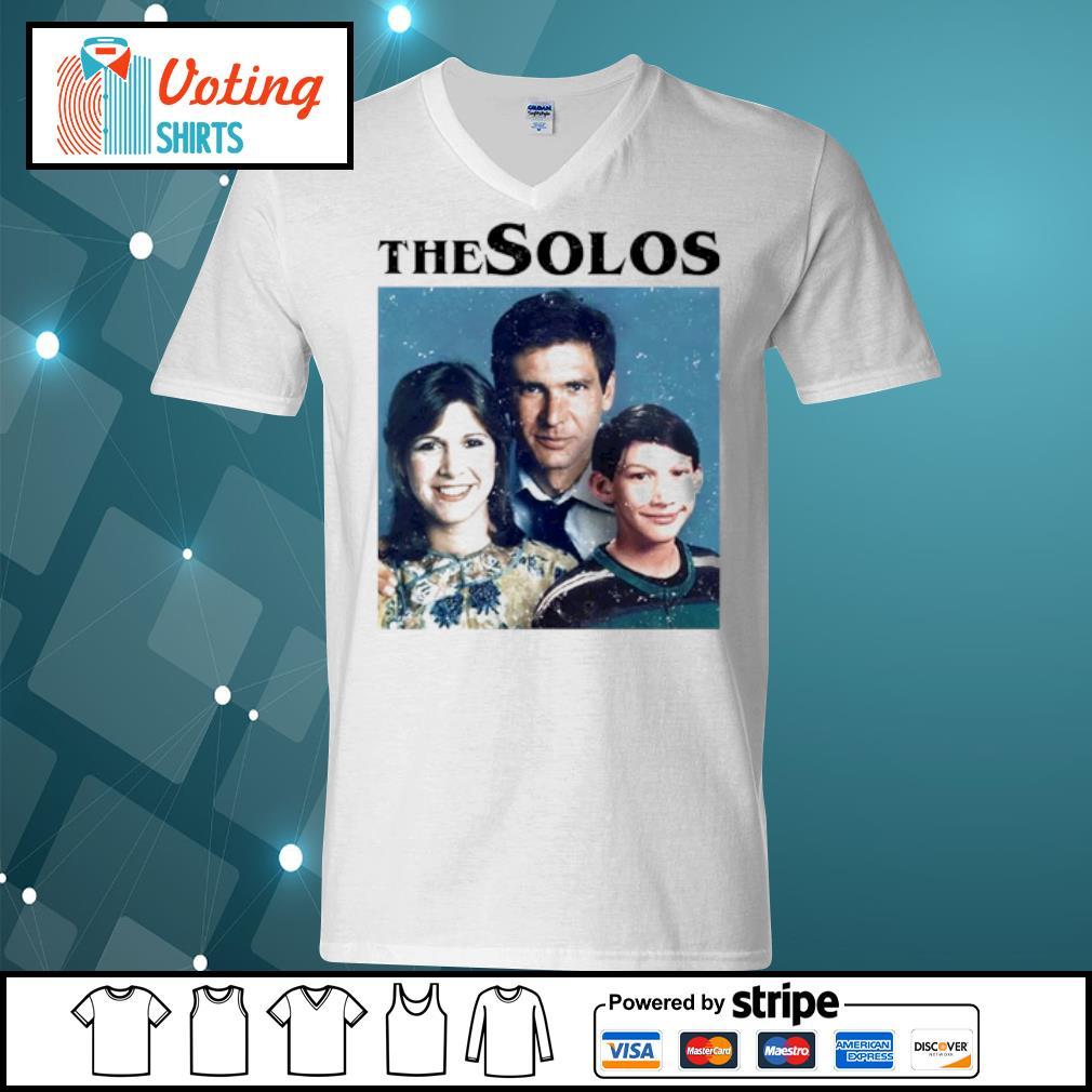 Han Solo Princess Leia Kylo Ren The Solos family s v-neck-t-shirt