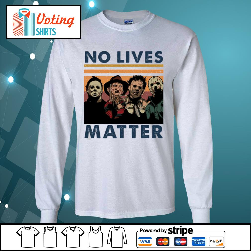 Horror characters no lives matter vintage s longsleeve-tee