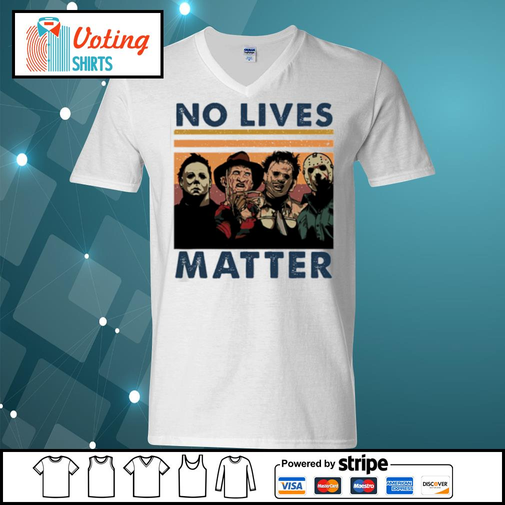 Horror characters no lives matter vintage s v-neck-t-shirt