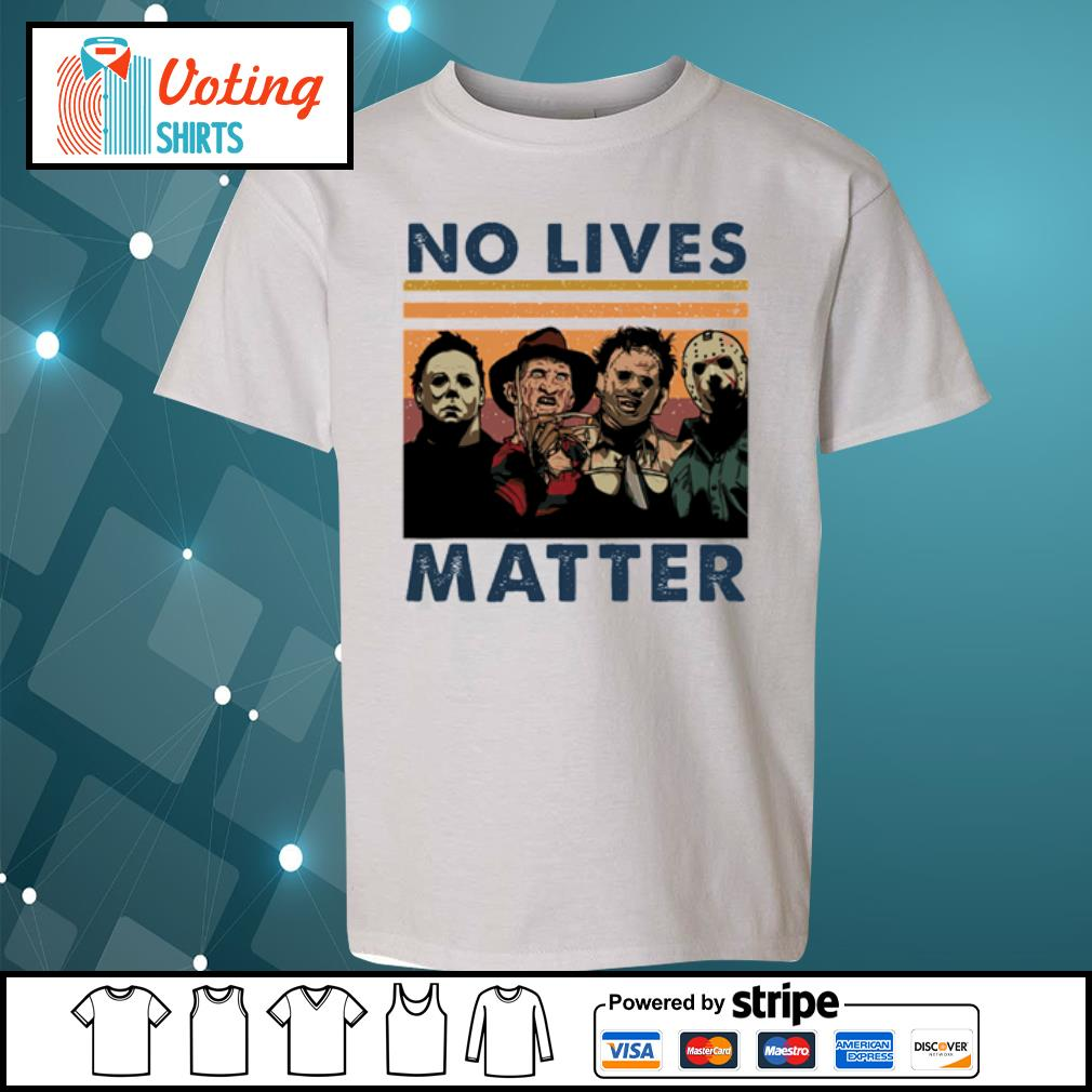 Horror characters no lives matter vintage s youth-tee