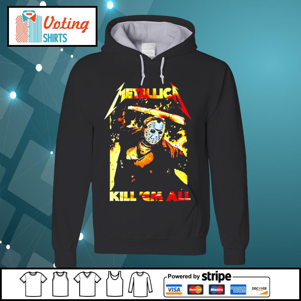 Horror movie Jason Voorhees metallica kill 'em all s hoodie