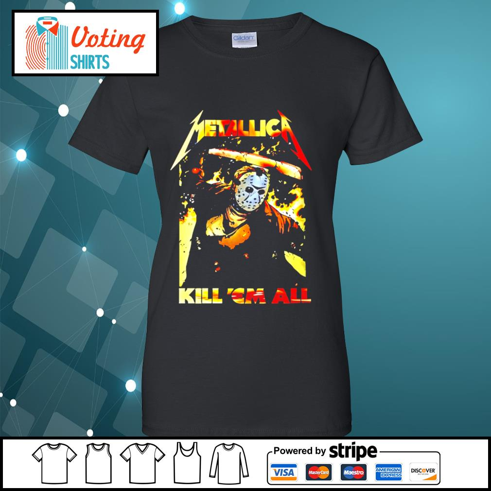 Horror movie Jason Voorhees metallica kill 'em all s ladies-tee