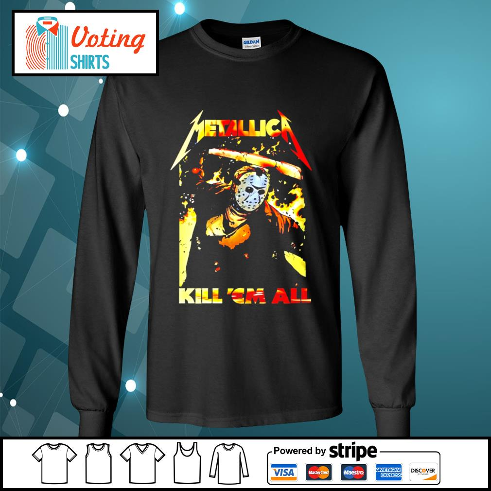 Horror movie Jason Voorhees metallica kill 'em all s longsleeve-tee